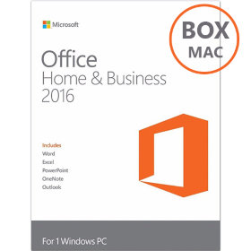 Microsoft Office 2016 Home and Business for Mac OS BOX 32/64 bit