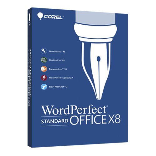 WordPerfect Office X8 Standard Single User Lic ML [LCWPX8ML1]