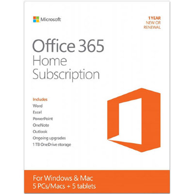 Microsoft Office 365 Home на 5 ПК на 1 год / 6GQ-00084