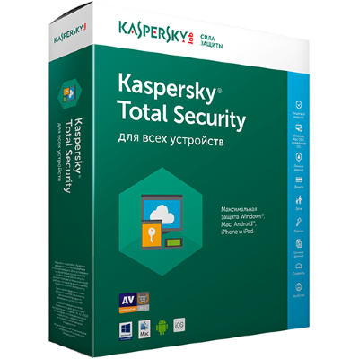 Kaspersky Total Security - Multi-Device на 1 год 2 устройства / KL1919RDBFS